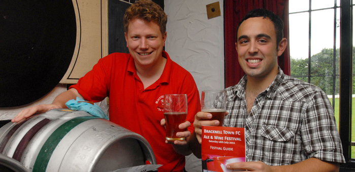 Tom and Michael at the first ever Bracknell Ale & Wine Festival in 2011.